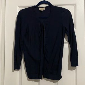 Navy Loft Outlet Cardigan 3/4 length sleeve